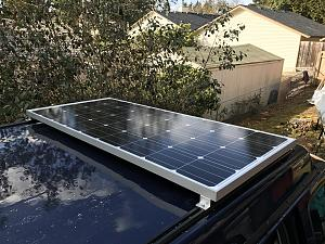 Solar Panel And Roof Rack On Manual Pop Top