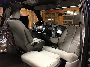 front seat swiveled in mg\'s van.jpg