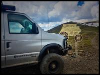 """This is intended to demonstrate a simple way to remove a 35"""" rim and oversized tire using a winch on a Sportsmobile.    Sorry, new to this so i made a new group name. If there is a..."""