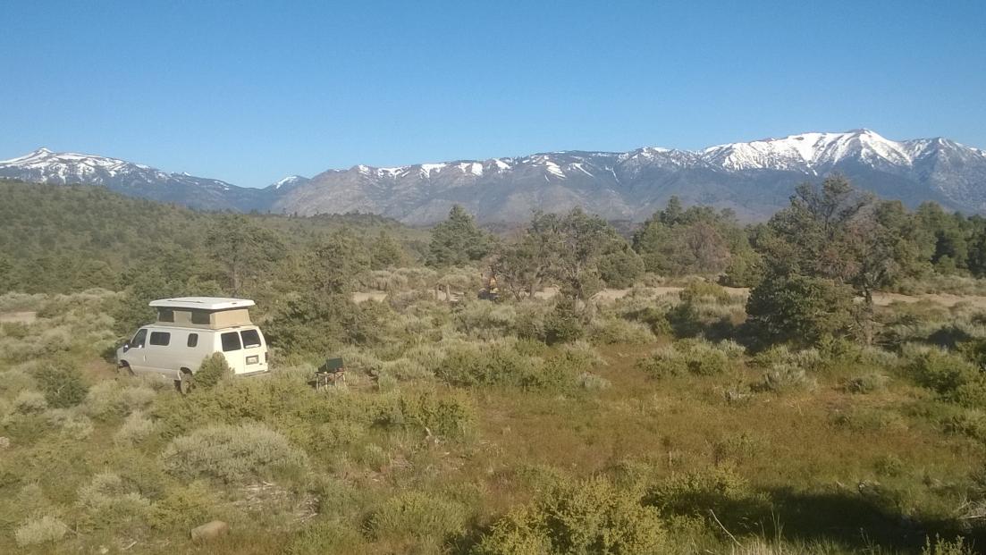 Leviathan Mine Rd Camp - Freel Peak - Carson Range