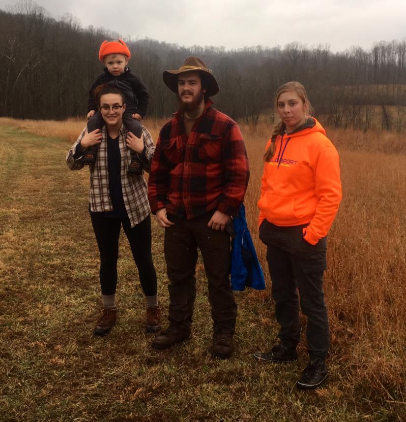 My motley crew- Christmas Eve 2016 hike, Lewis Wetzel WMA   WV