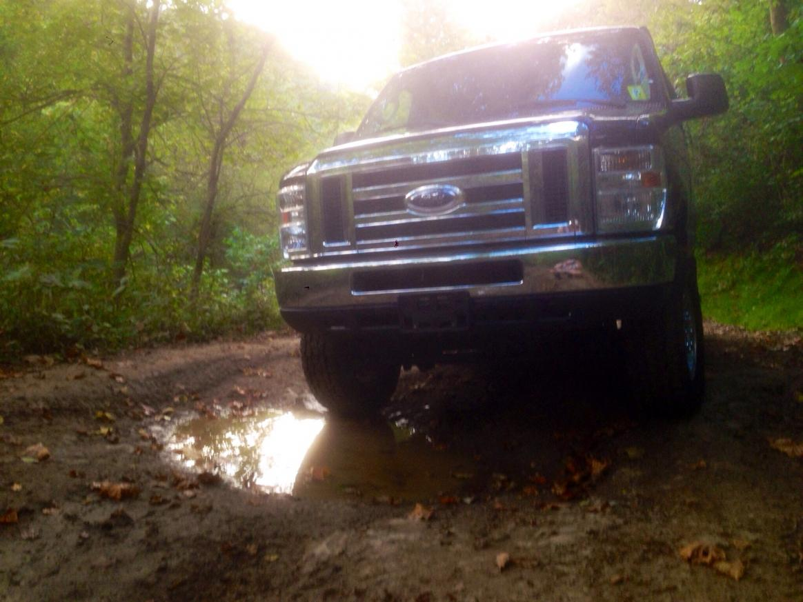 Just a puddle in an area we call The Mudhole