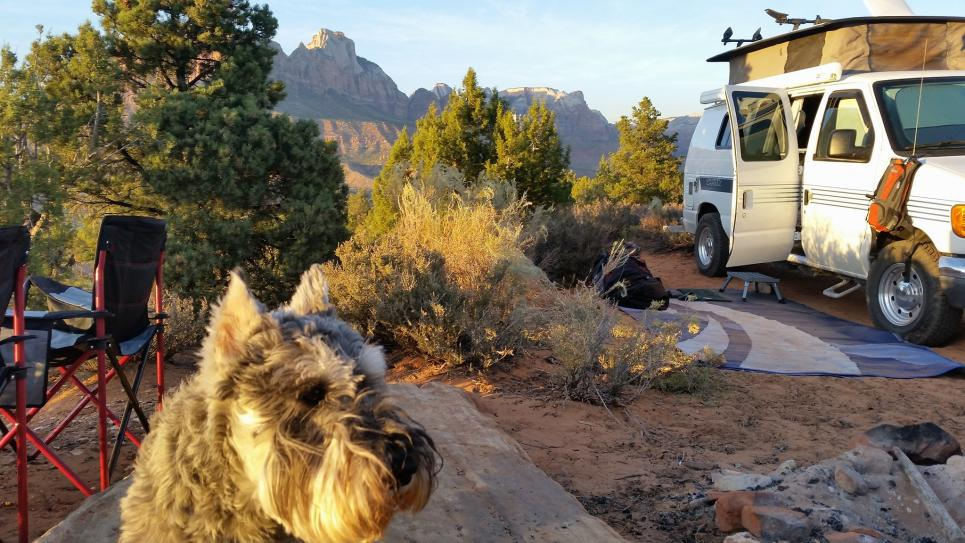 Dry camping near Zion.