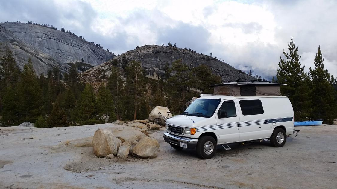 Dry camping in Sierras.