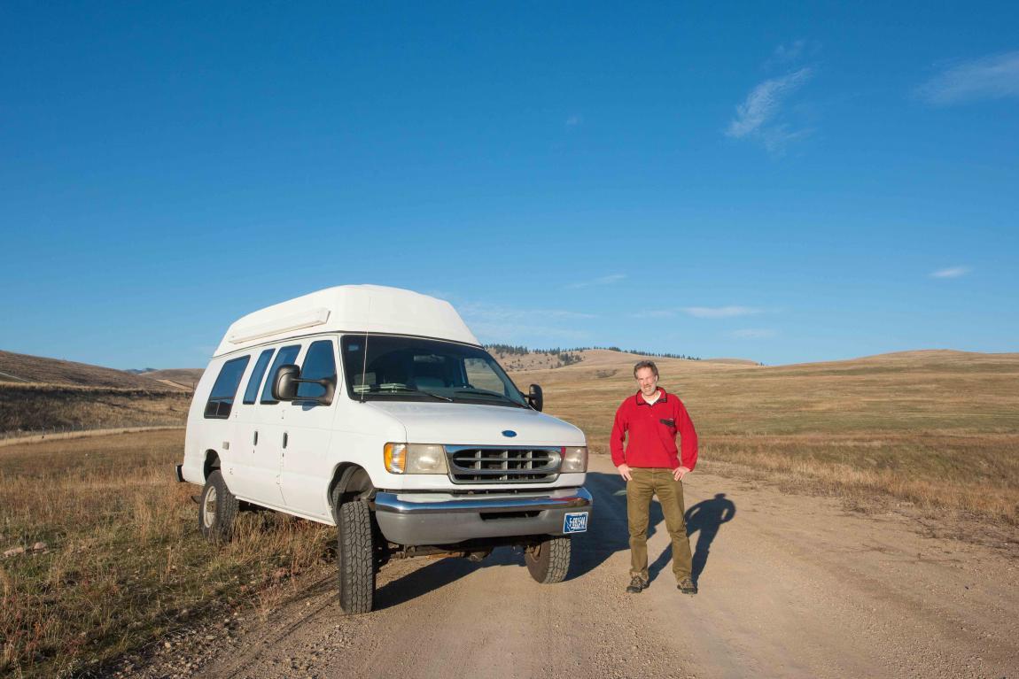 November 2016 DSC8731 Ford e350 4x4 van, Missoula, Montana, USA