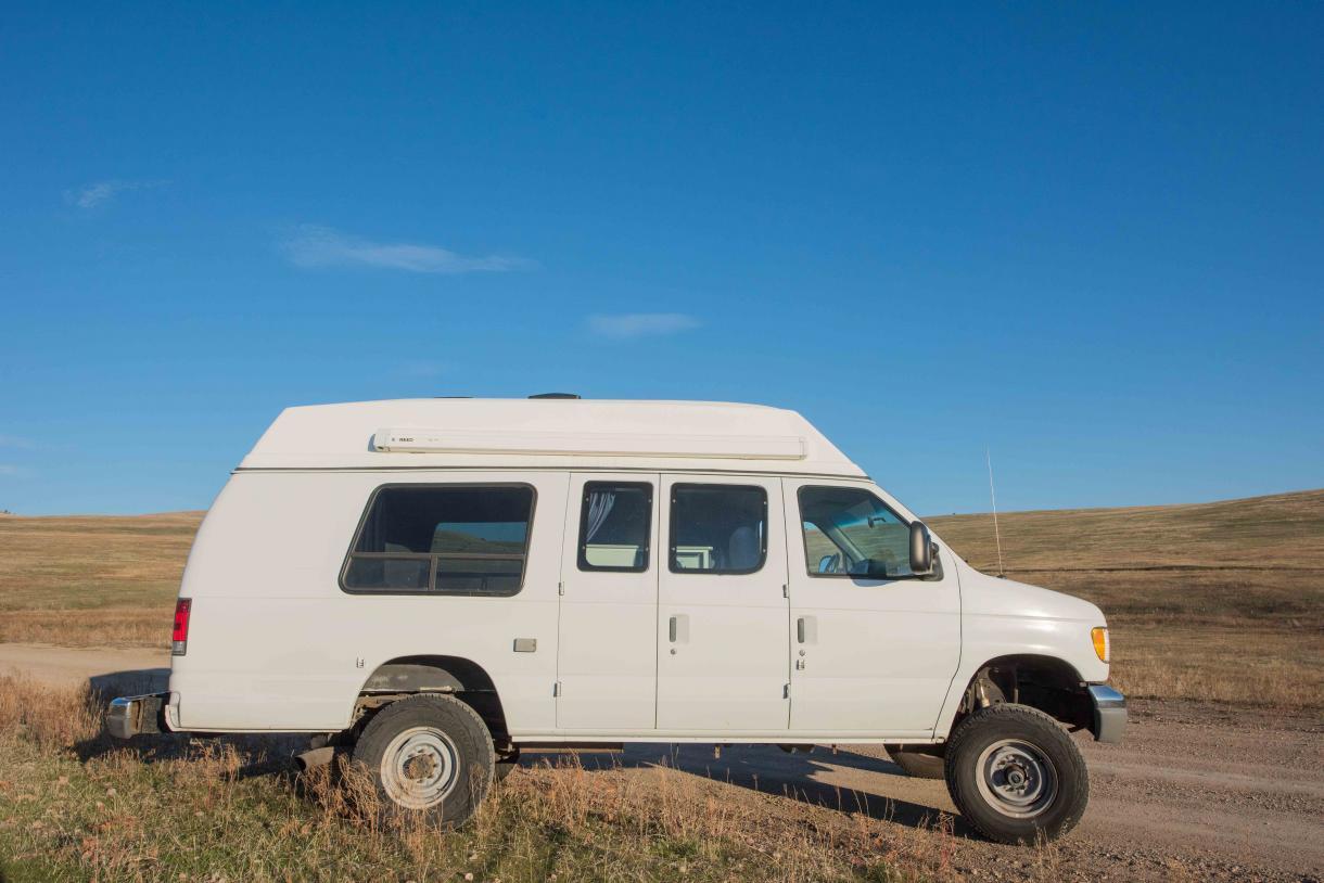 November 2016 DSC8741 Ford e350 4x4 van, Missoula, Montana, USA