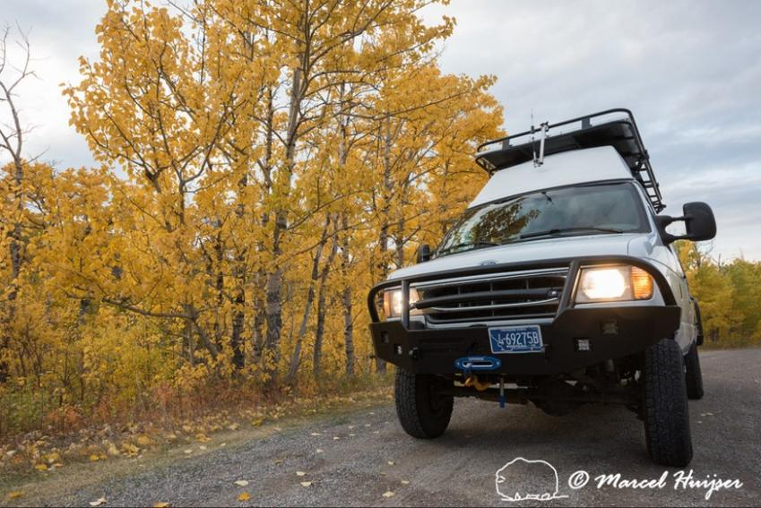 DSC8906 Camper van near Glacier National Park, Montana, USA