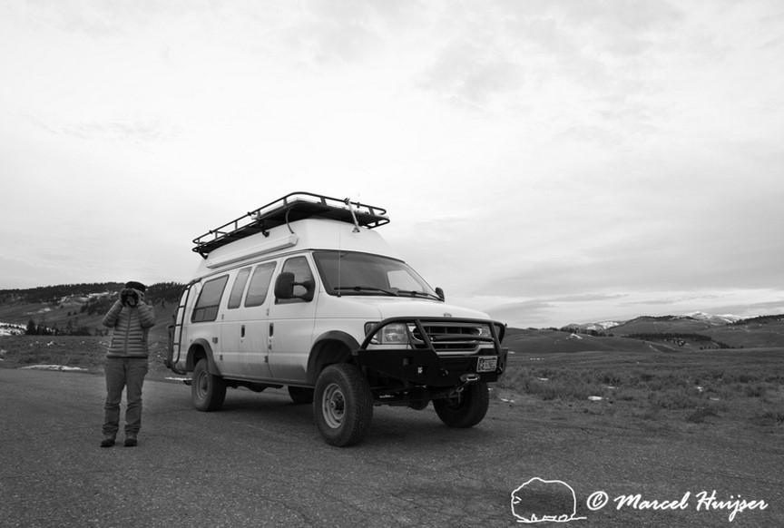 DSC9178 Camper van, Yellowstone National Park, Wyoming, USA
