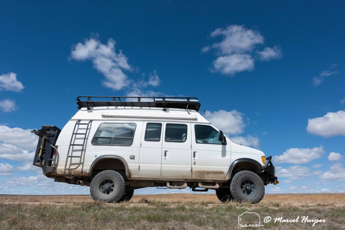 DSC1882 Ford 4x4 camper van, Benton Lake National Wildlife Refuge, Montana, USA 2