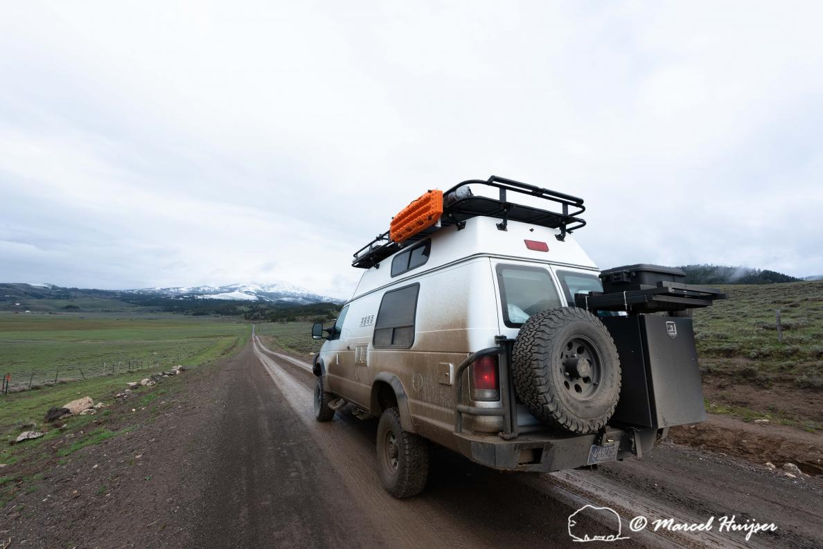 DSC2614 Camper van in Centennial Valley, Montana, USA 2