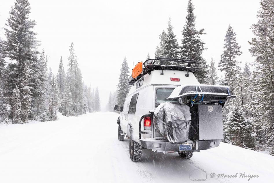 DSC5873 Camper van in snow storm, Wyoming 2