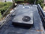 Aluminess custom cut rack, perforated floor, roof AC, Maxxair Vent