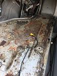 Cab floor.. beginnings of more rust