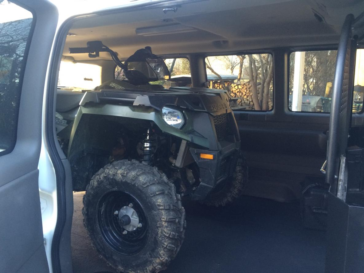 Seeing if my 2016 Polaris AWD 450 Sportsman will fit.
