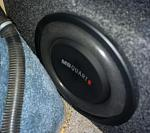 Ray put a new MBQuart subwoofer in!  I love its dedicated volume knob on the dash.