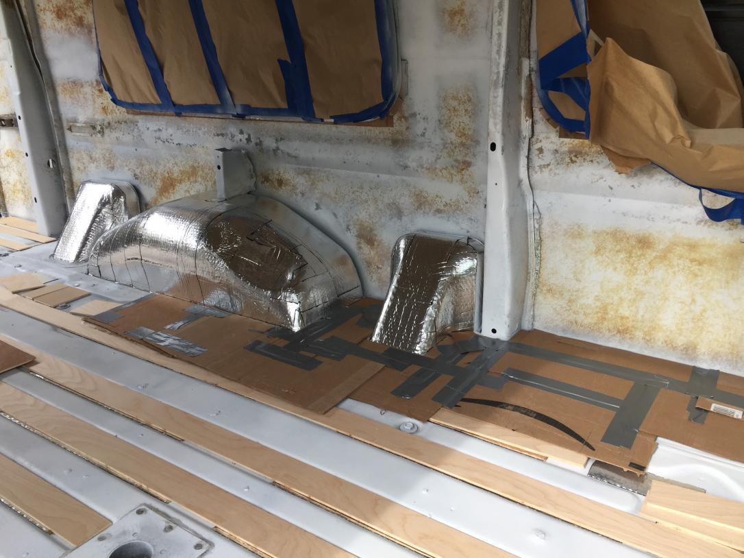 "Making cardboard template for 1"" rigid iso board insulation."