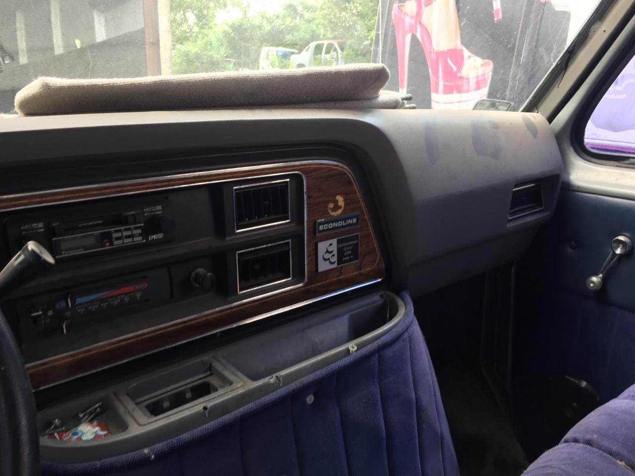 Junkyard adventure: Van 2 found some grey trim and steering wheel cover.