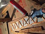 "Ceiling insulation. 1/2"" Rigid Polyiso foam board adhered with Greatstuff Pro."