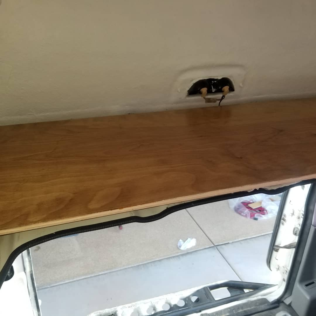 rear shelf installed, trim next