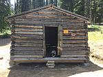 Partially restored Canfield Cabin