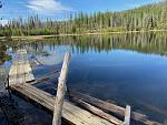 Twin Lakes with fishing boardwalk