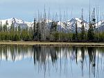 Twin Lakes with Eagle Caps in background