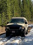 Snow on way to Fish Lake