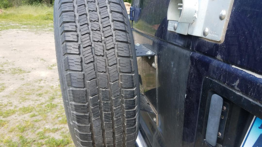 Current spare tire setup