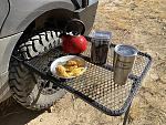 Tailgater Tire Table   Breakfast is Served