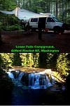 2016 June visit to Lower Falls Campground in Gifford Pinchot National Forest, Washington State