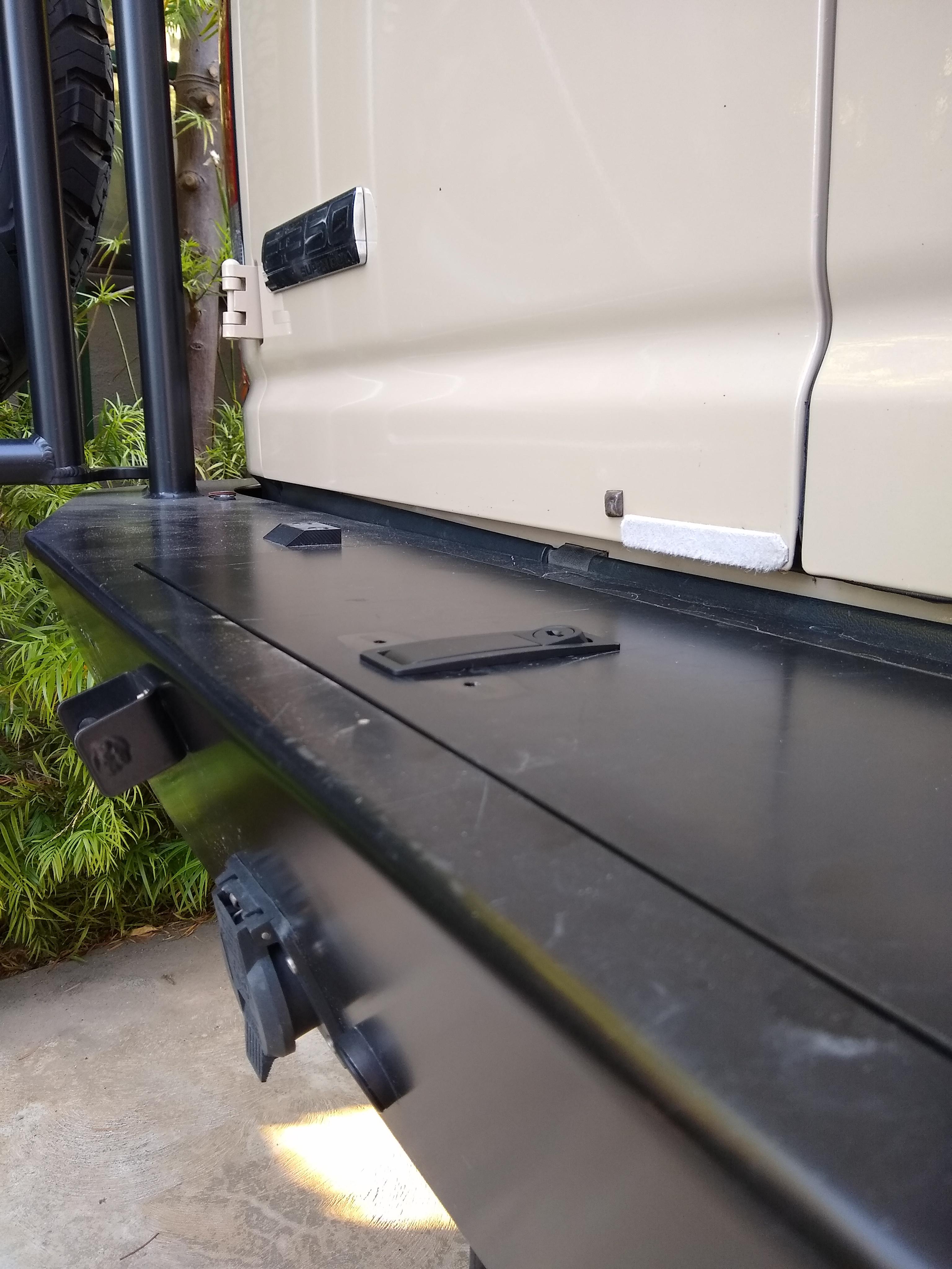 Bumper storage latch 7