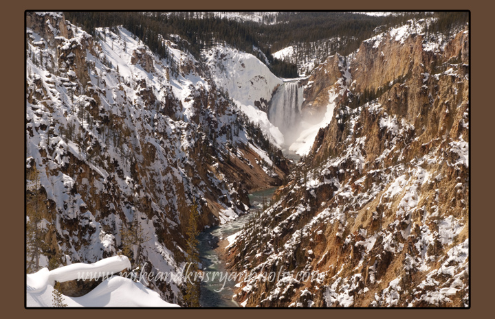 Lower Falls on the Yellowstone River, Yellowstone National Park