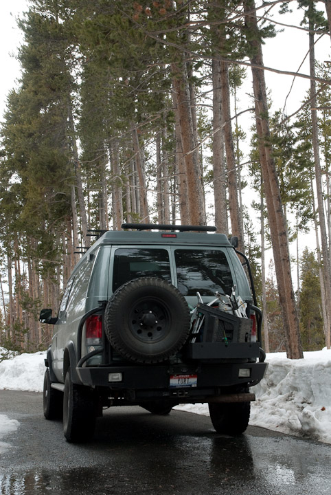 Parked along the Gibbon River, Yellowstone