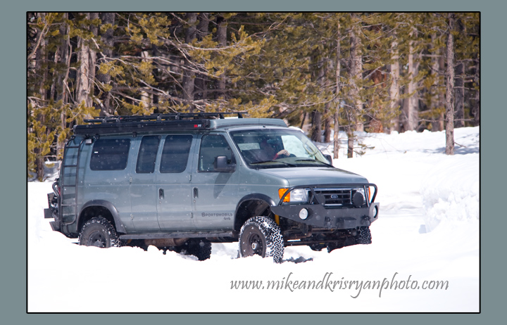 Playing in the snow, Canyon Area, Yellowstone.