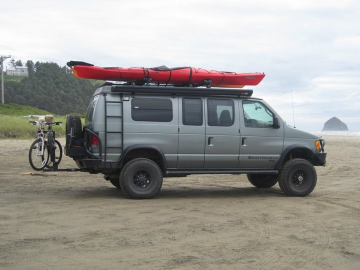Fully loaded on the beach north of Haystack Rock, Cape Kiwanda, OR
