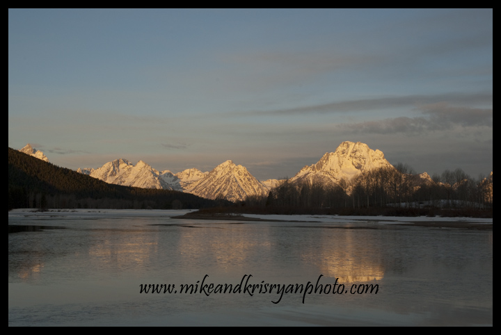 Mount Moran reflecting in the Oxbow, Tetons