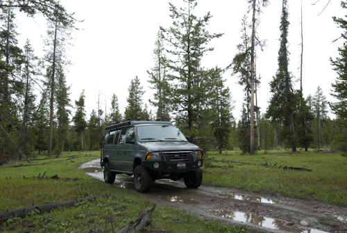 Heading out on an isolated road in the north park of Grand Teton National Park.