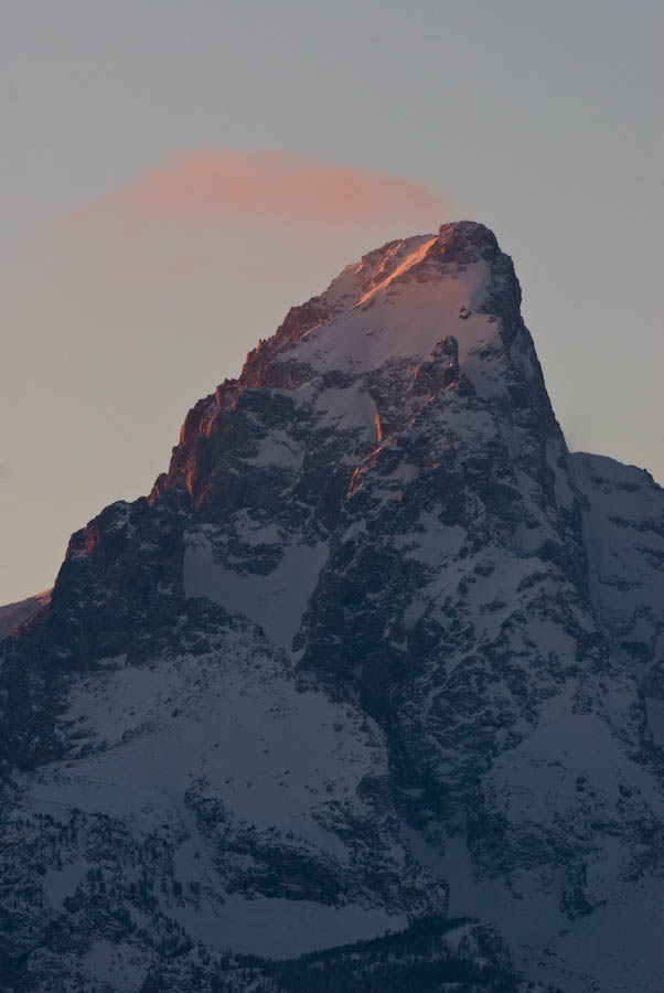 Late evening light on the Grand Teton