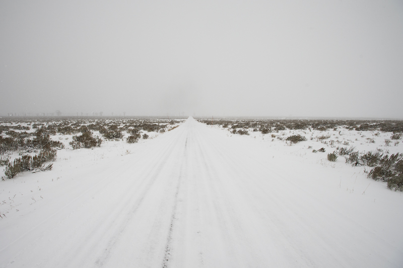 Antelope Flats Road before the close it for the winter, Grand Teton National Park.