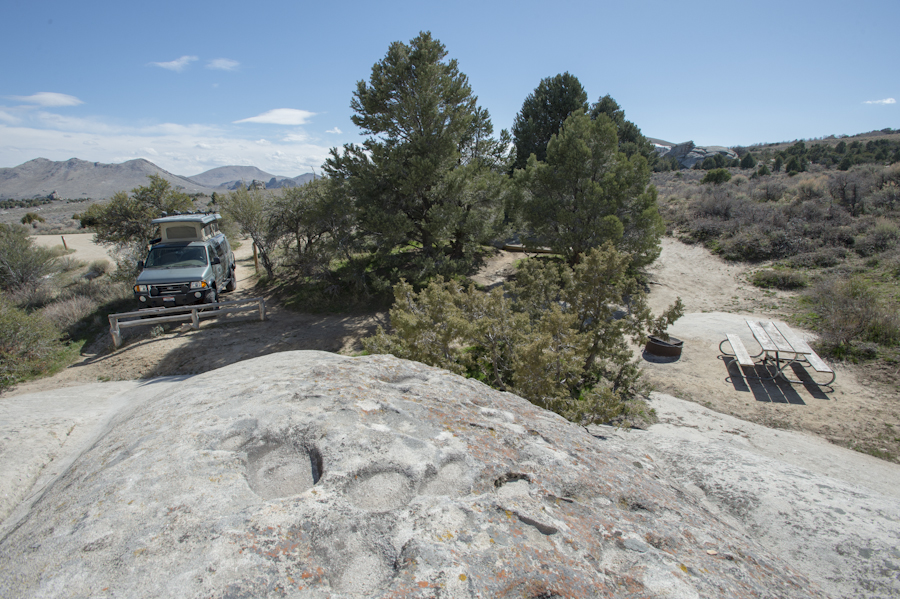 Campsite at the City of Rocks, Almo, ID