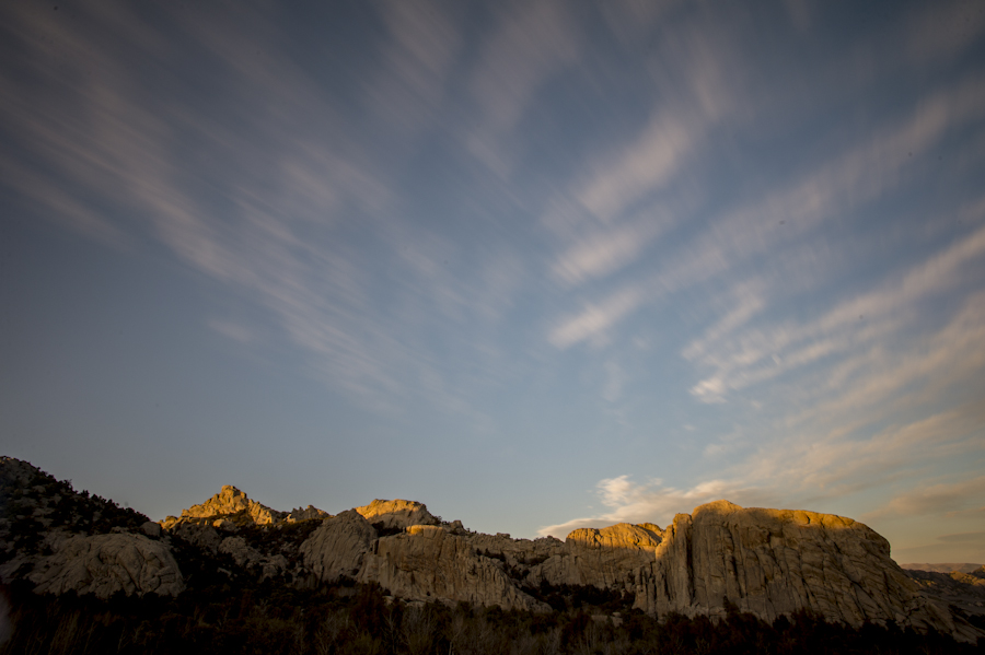 Last light of the day, City of Rocks, Almo, ID