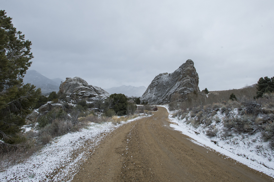 Woke up to a dusting of snow, City of Rocks, Almo, ID
