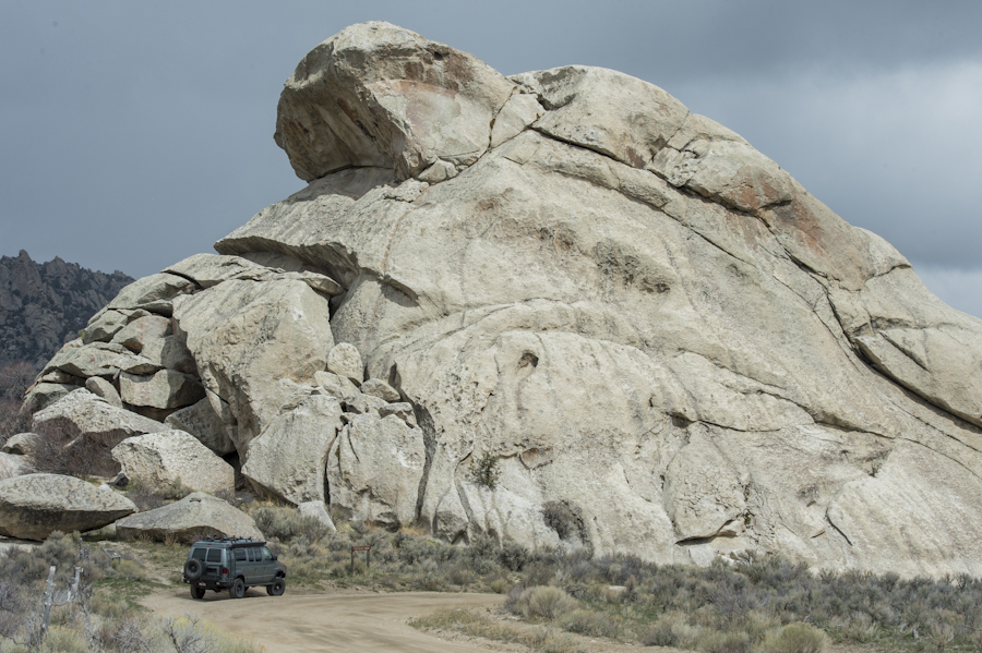 Treasure Rock and the YURT, City of Rocks, Almo, ID