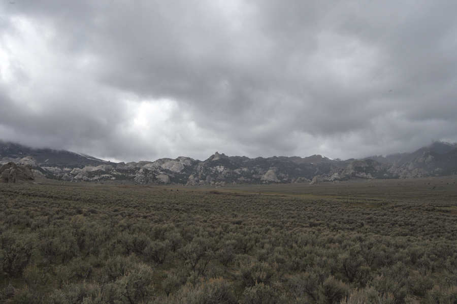 Storm coming in over the City of Rocks, Almo, ID