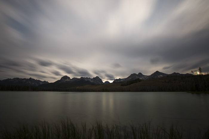 Late evening on Little Redfish Lake, Stanley, ID
