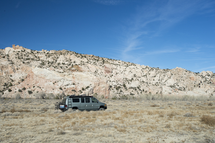 Stopping for a break on Cottonwood Road, Southern Utah.