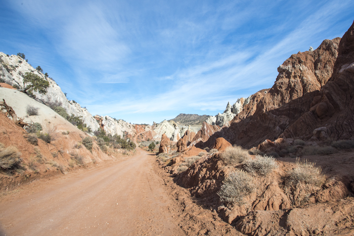 Heading through the canyon on Cottonwood Road, Southern Utah.