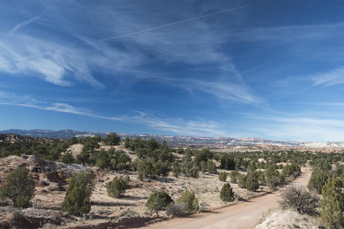Heading north on Cottonwood Road, Southern Utah.