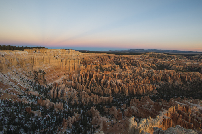 Morning light in Bryce Canyon National Park