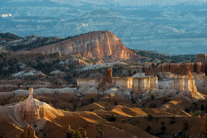 Looking out over parts of Bryce Canyon